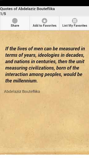 Quotes of Abdelaziz Bouteflika