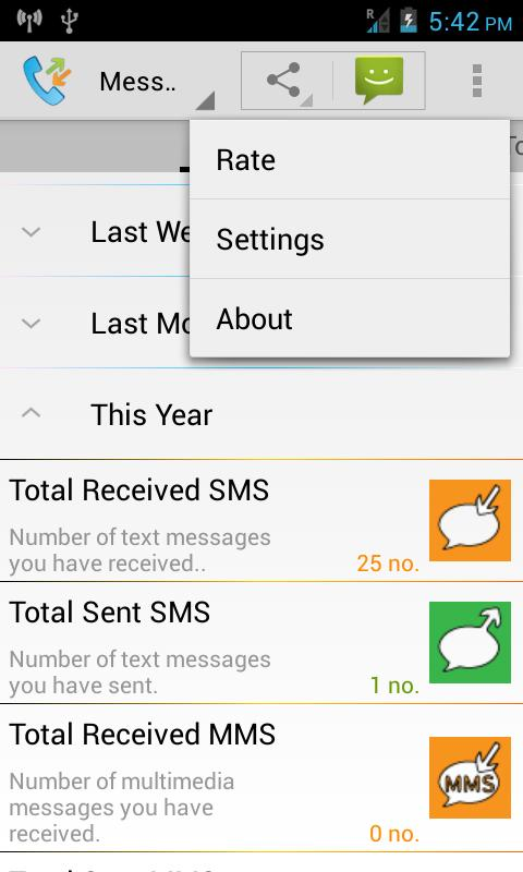 Call SMS Log Backup : Thoth - screenshot