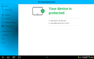 Screenshot of F-Secure Mobile Security