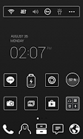 Screenshot of BlackLabel LINE Launcher theme