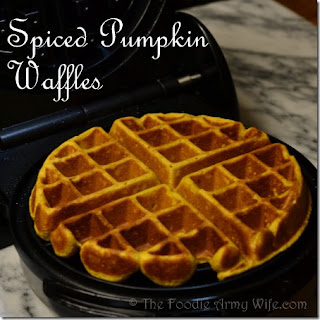 Spiced Pumpkin Waffles.