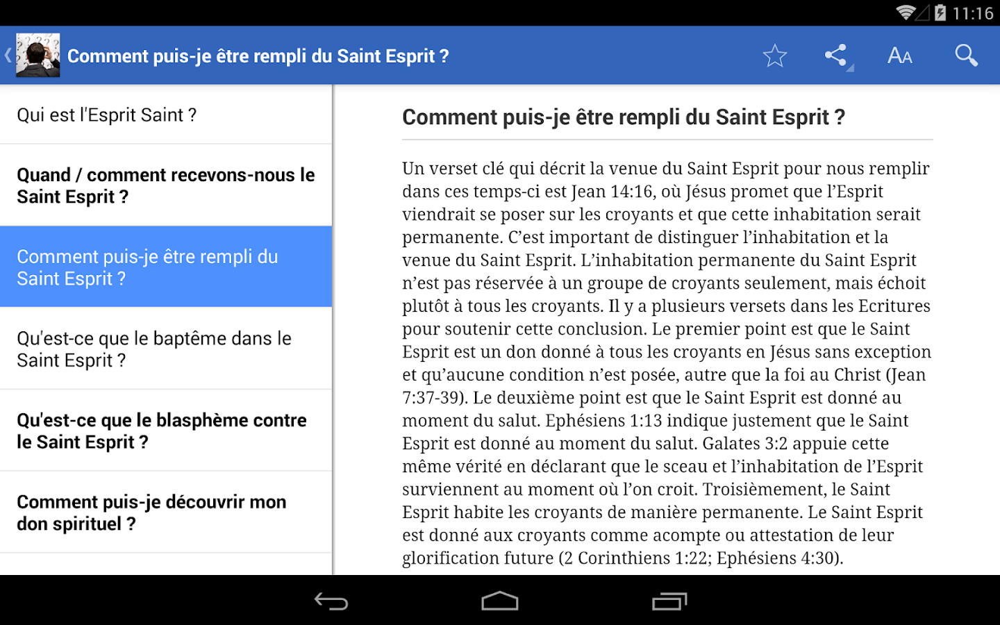 Des questions?- screenshot