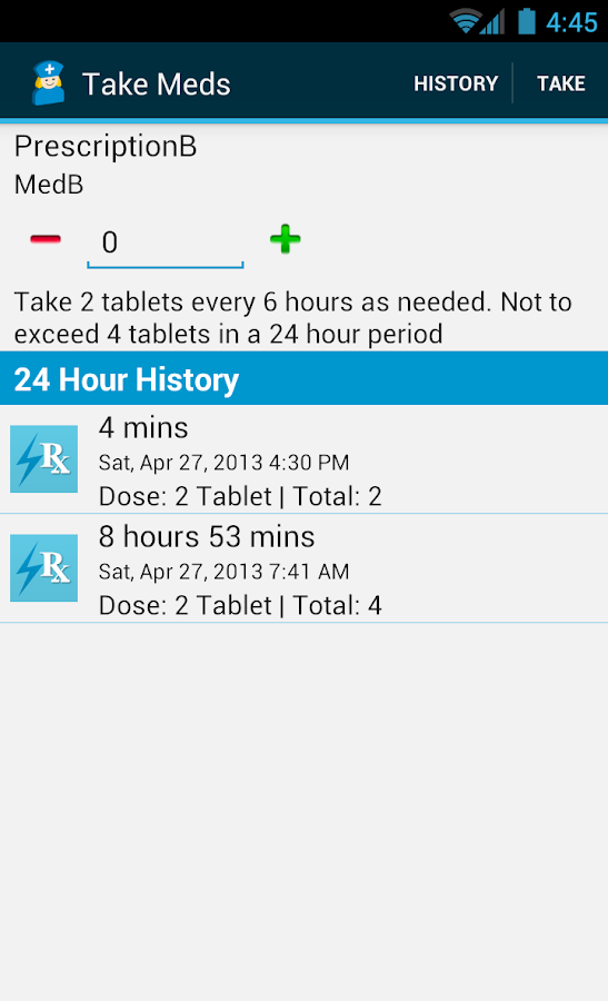 Med Helper Pill Reminder - screenshot