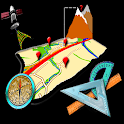 Map GPS tools icon