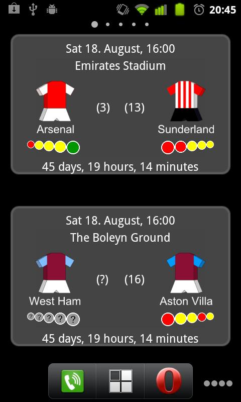 Next Premier League Match - screenshot
