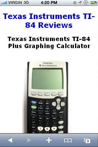 TI84 Calculator Reviews