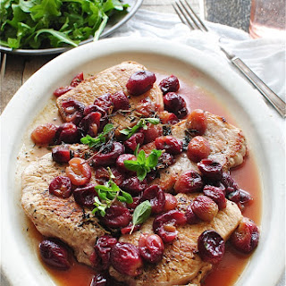 Seared Pork with Roasted Grapes.