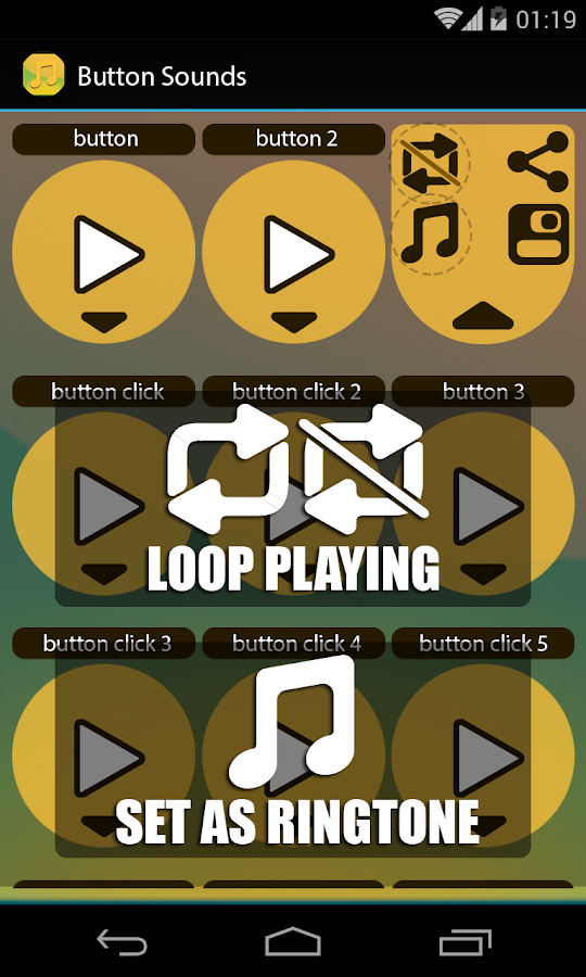 Buttons that make sounds