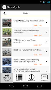 SwissCycle Schweizer Velobörse- screenshot thumbnail