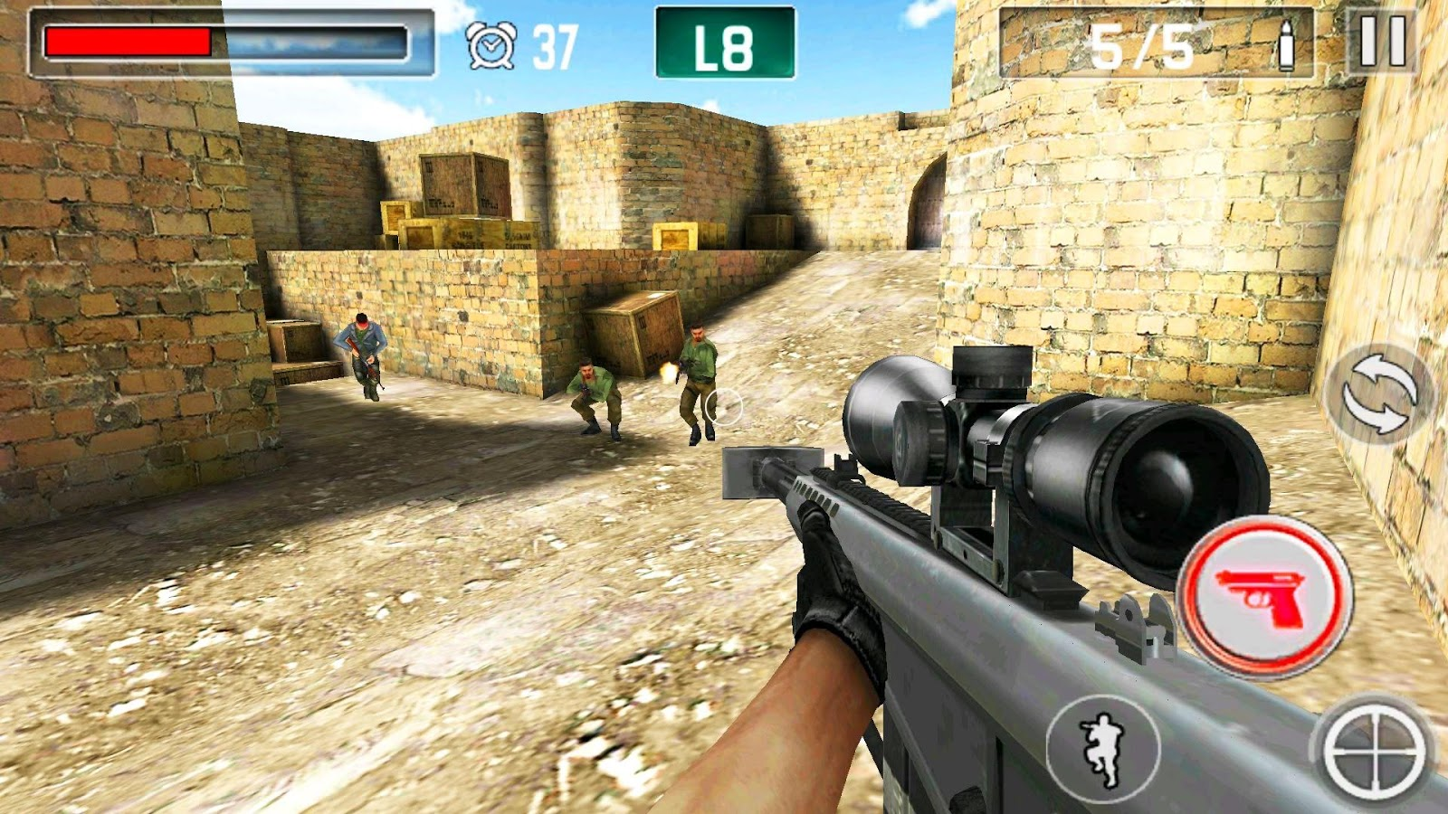 2 player shooting games android