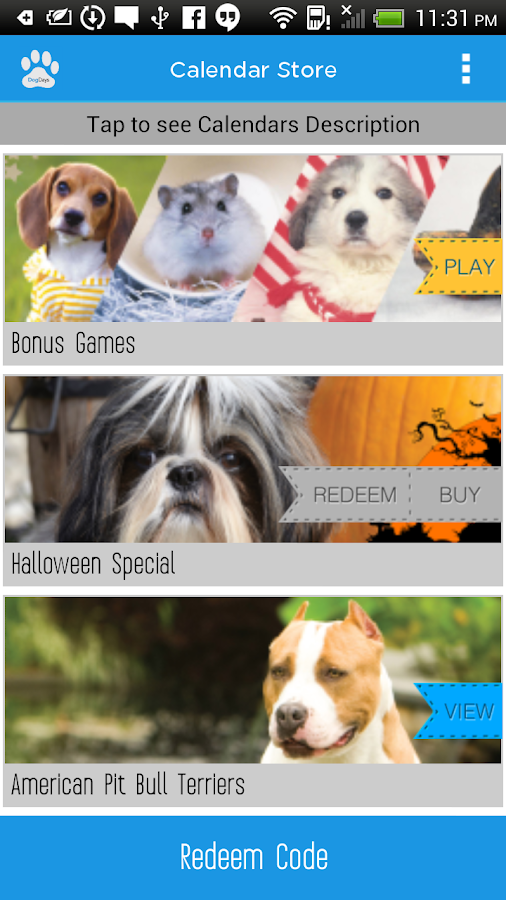 DogDays | Calendar & Puzzles- screenshot