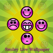 Smiley Live Wallpaper (Blue)