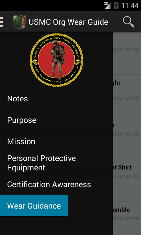 USMC Org Wear Guide- screenshot