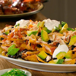 Chicken and Black Bean Nachos.