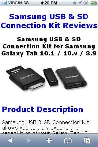 USB SD Connection Kit Reviews