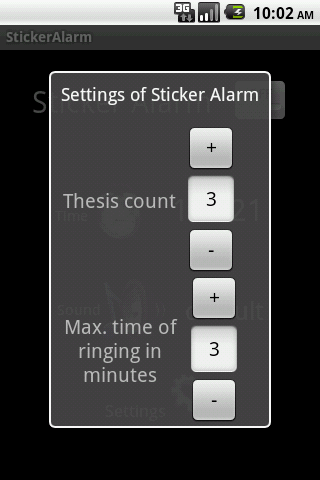 Sticker Alarm Full version - screenshot