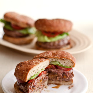 Horseradish, Cheddar, and Caramelized Onion-Stuffed Burgers