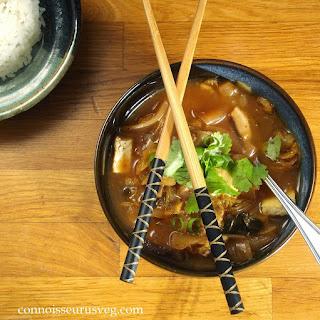 Kimchi Stew with Tofu and Shiitakes