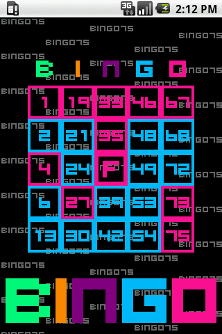 BINGO75- screenshot