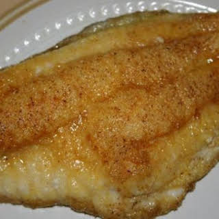 Baked Flounder in Sour Cream Sauce.