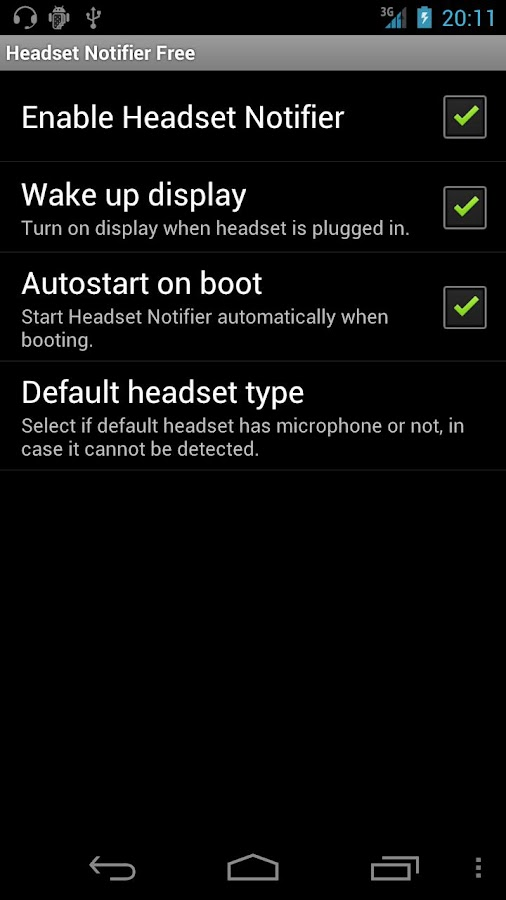 Headset Notifier Free- screenshot