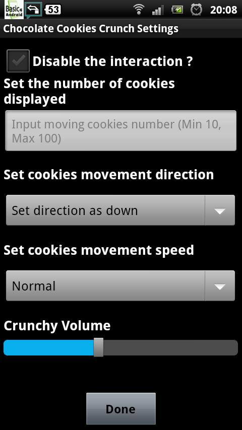Chocolate Cookies Crunch LWP - screenshot