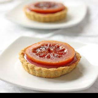 Blood Orange White Chocolate Ganache Tarts