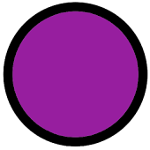 Polka Dot Black Purple Theme