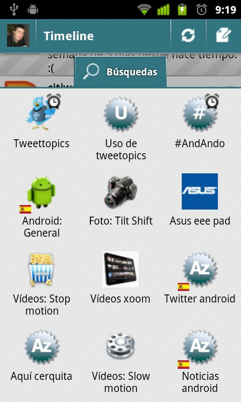 TweetTopics 1.0 (old version) - screenshot