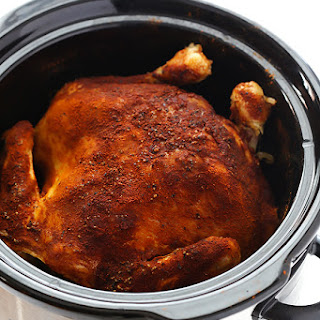 """Slow Cooker """"Rotisserie"""" Chicken"""