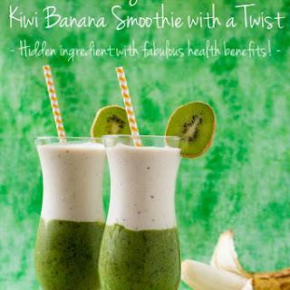 Kiwi Banana Smoothie with a Twist
