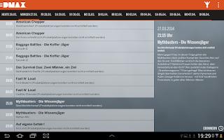 Screenshot of DMAX App