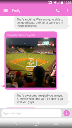 EvolveSMS Theme - BH Chat Pink