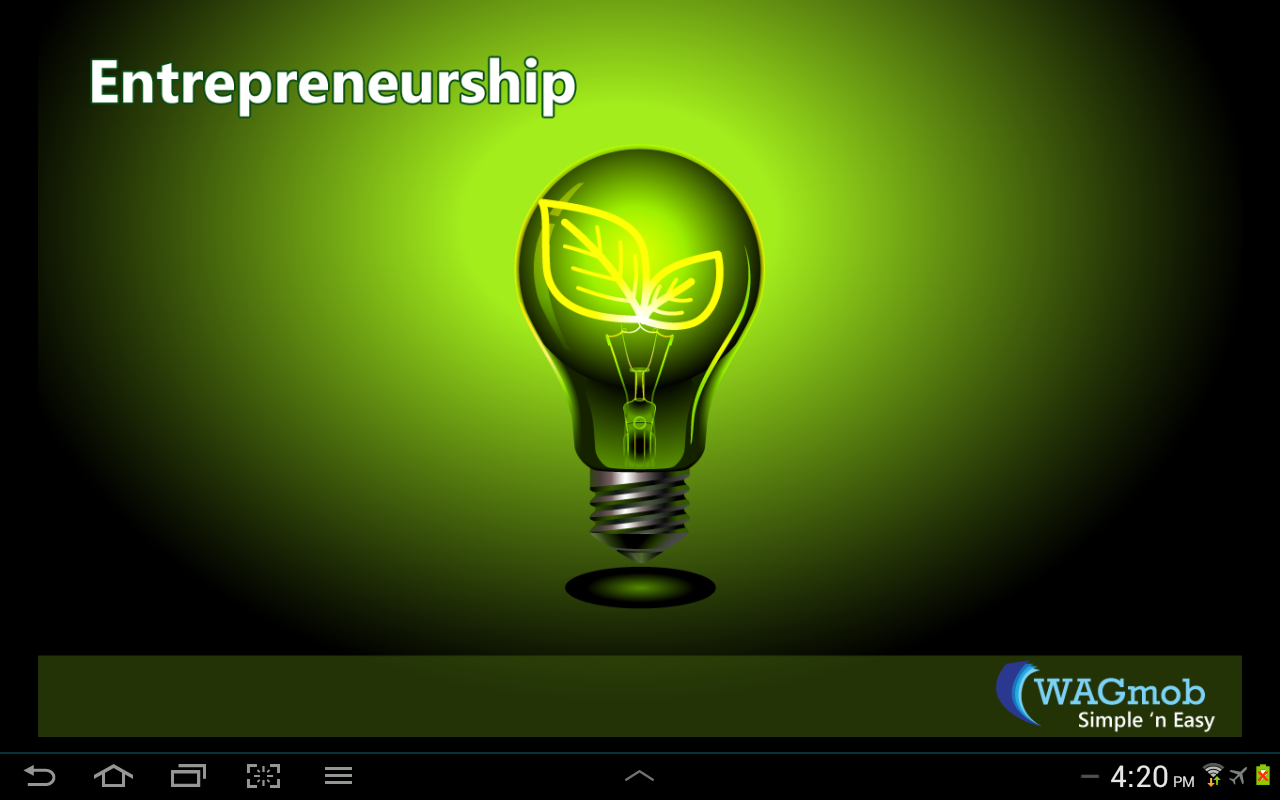 Entrepreneurship by WAGmob - screenshot