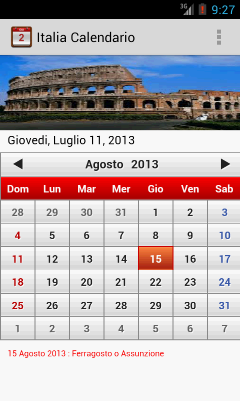Italia Calendario 2014 - screenshot