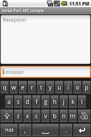 Serial Port API Sample- screenshot