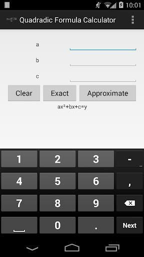 Wizardly Quadratic Formula
