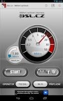 Screenshot of DSL.cz - Měření rychlosti