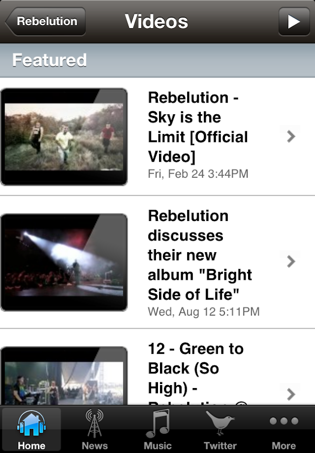 Rebelution - screenshot