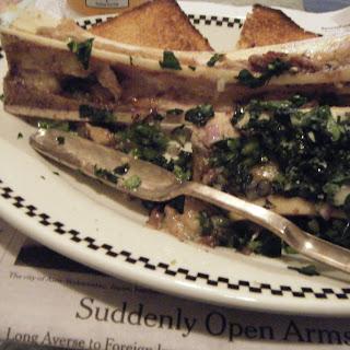 Marrow Bone Camille Demoulins (Bone Marrow on Toasts Girondin with Celery Salad)