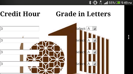 Qatar University GPACalculator