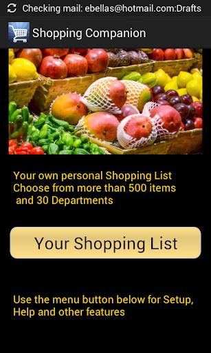Shopping Companion