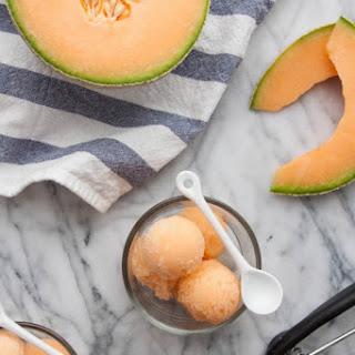 Cantaloupe Sorbet.