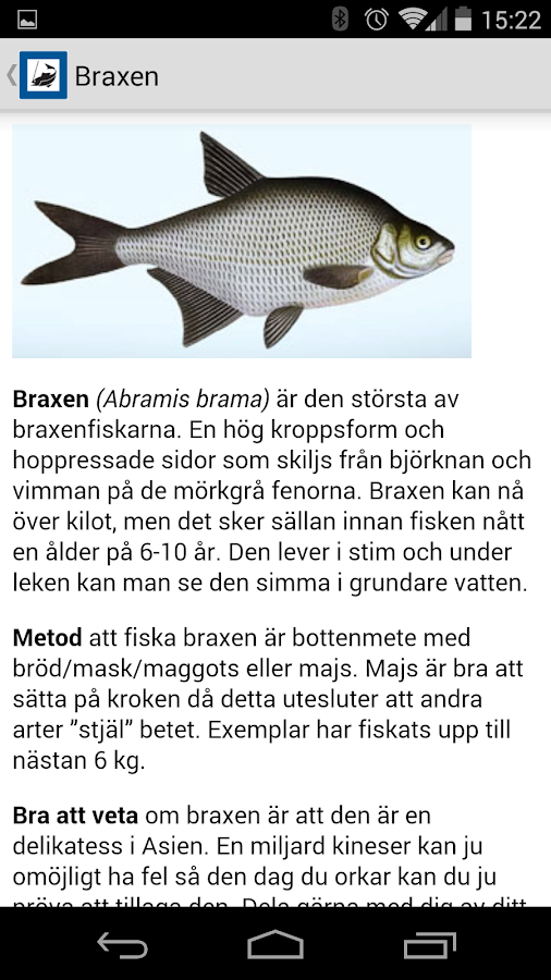 Fiska i Sverige- screenshot