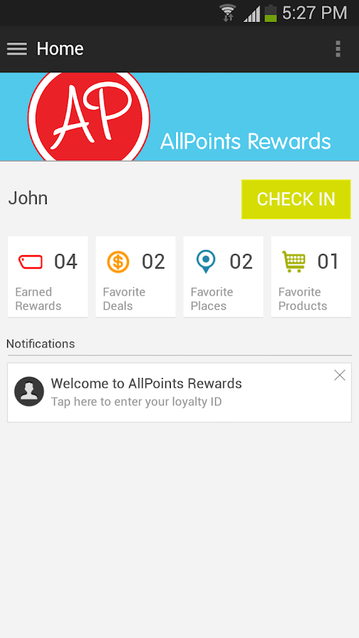 AllPoints Rewards - screenshot