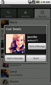 OinkText friend finder for Kik screenshot 1