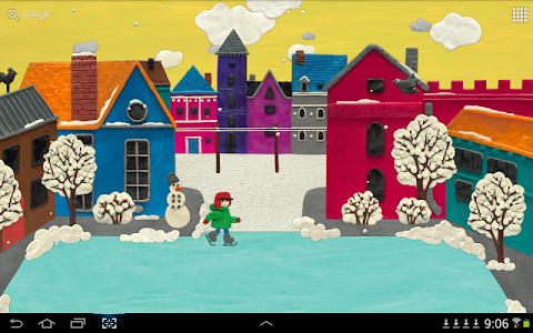 KM Winter town Live wallpaper v1.0.11