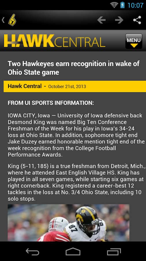 Hawkeyes News - screenshot