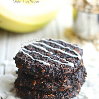 Gluten Free Chocolate Coconut Oat Banana Breakfast Cookies.
