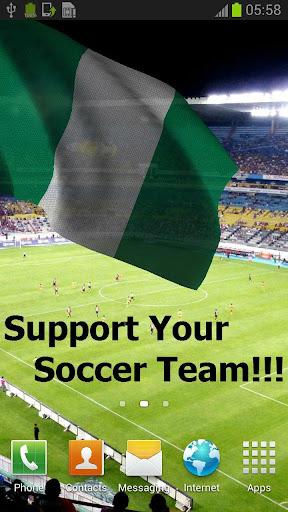 3D Nigeria Flag Live Wallpaper